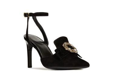 Sandals Cao Gót Nữ Geox D FAVIOLA A Màu Đen Size 35