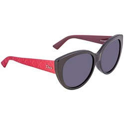 Kính Mát Dior Diorlady Grey Blue Cat Eye Ladies Sunglasses DIORLADY1NF 03MR 58