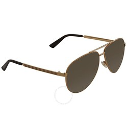 Kính Mát Gucci Brown Gradient Aviator Sunglasses GCGG0137S 001 61