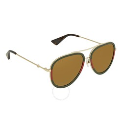 Kính Mát Gucci Gold Aviator Ladies Sunglasses GG0062S 010 57
