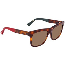 Kính Mát Gucci Brown Shaded Rectangular Unisex Sunglasses GG0158S 005 54