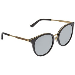 Kính Mát Gucci Grey Round Ladies Sunglasses GG0204SK-001 56