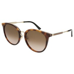 Kính Mát Gucci Brown Shaded Round Ladies Sunglasses GG0204SK-003 56