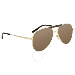 Kính Mát Gucci Brown Aviator Sunglasses GG0242S 002 59