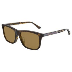 Kính Mát Gucci Brown Asian Fit Rectangular Men's Sunglasses GG0381SA 002 56
