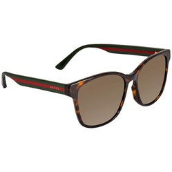 Kính Mát Gucci Brown Square Unisex Sunglasses GG0417SK 003 56