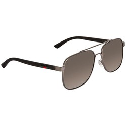 Kính Mát Gucci Grey Brown Square Men's Sunglasses GG0422S 002 60