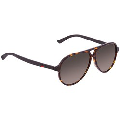 Kính Mát Gucci Brown Shaded Pilot Men's Sunglasses GG0423S00358