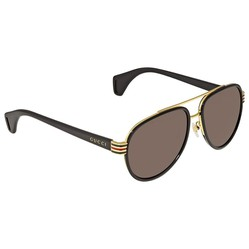 Kính Mát Gucci Brown Aviator Men's Sunglasses GG0447S 003 58