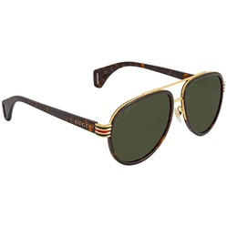 Kính Mát Gucci Green Aviator Unisex Sunglasses GG0447S00458