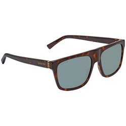 Kính Mát Gucci Green Rectangular Men's Sunglasses GG0450S 002 57