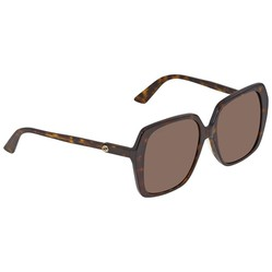 Kính Mát Gucci Brown Asian Fit Oversized Ladies Sunglasses GG0533SA 002 56