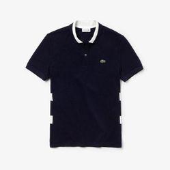 Áo Lacoste Camisa Polo Lacoste Regular Fit Com Listras Masculina Màu Xanh Đen
