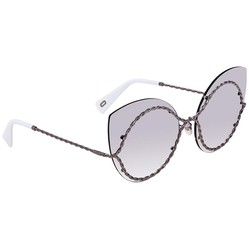 Kính Mát Marc Jacobs Gray Mirror Shaded Silver Cat Eye Ladies Sunglasses