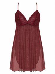 Đầm Ngủ Corele V - Nuisette - N025A Đỏ Boóc-đô M