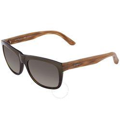 Kính Mát Salvatore Ferragamo Brown Rectangular Men's Sunglasses