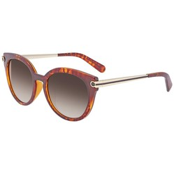 Kính Mát Salvatore Ferragamo Brown Cat Eye Ladies Sunglasses