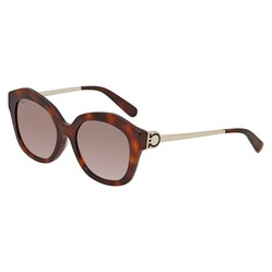 Kính Mát Salvatore Ferragamo Brown Geometric Ladies Sunglasses SF868SA