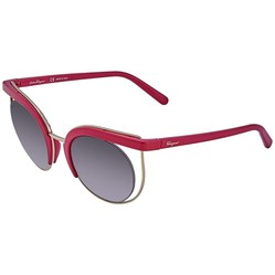 Kính Mát Salvatore Ferragamo Grey Mirror Square Ladies Sunglasses