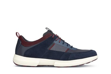 Sneakers Nam Geox U TRACCIA B SUEDE+TEXTILE Màu Xanh Navy Size 44