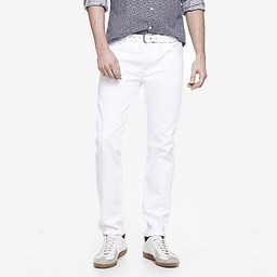 Quần Jeans Express Slim Fit White