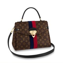 Túi Xách Louis Vuitton Georges BB Monogram Canvas With Tufted Stripe