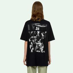 Áo Phông Off-White Caravaggio Square S/S Over T-Shirt Màu Đen