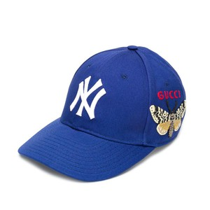 Mũ Gucci Baseball With Ny Yankees With Patch Cap Blue