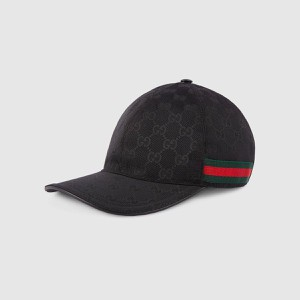 Mũ Gucci Original GG Canvas Baseball With Web Black Size L