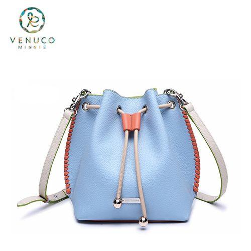 Túi Bucket Venuco  Trơn - Xanh Da Trời - B09F07