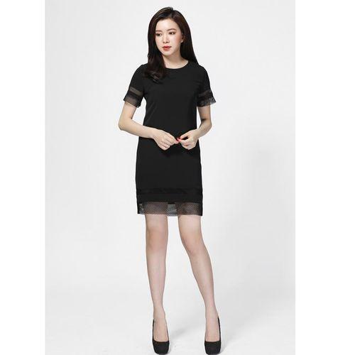 Váy Suông Phối Lưới Heradg Màu Đen