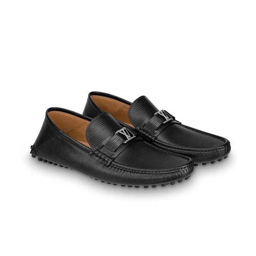 Giày Louis Vuitton Hockenheim Black Epi Leather Moccasin