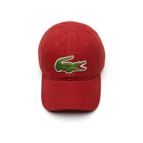 Mũ Lacoste Men's Big Croc Gabardine Cap Red