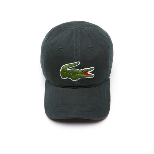 Mũ Lacoste Men's Big Croc Gabardine Cap Green