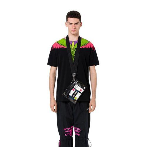 Áo Phông Đen Marcelo Burlon Flou Wings T-Shirt Size L
