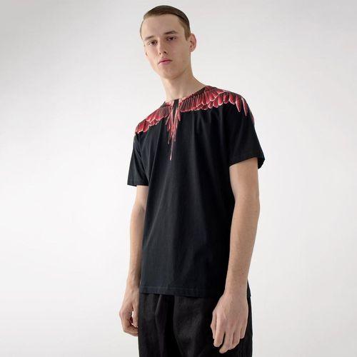Áo Phông Đen Marcelo Burlon Red Ghost Wings T-Shirt Size S