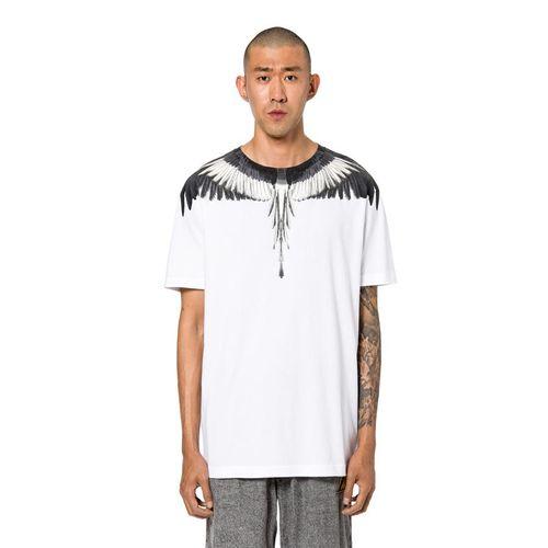 Áo Phông Trắng Đen Marcelo Burlon Wings T-Shirt, Size S