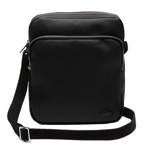 Túi Đeo Chéo Lacoste Men's Classic Petit Pique Double Bag Black