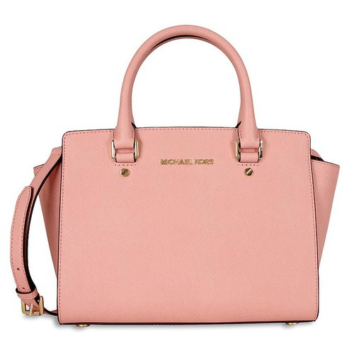 Túi Xách Michael Kors Selma Saffiano Leather Medium Satchel - Pale Pink