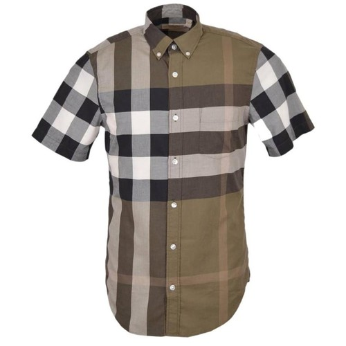 Áo Sơ Mi Burberry Brit Short Sleeve Check Cotton Shirt Size M
