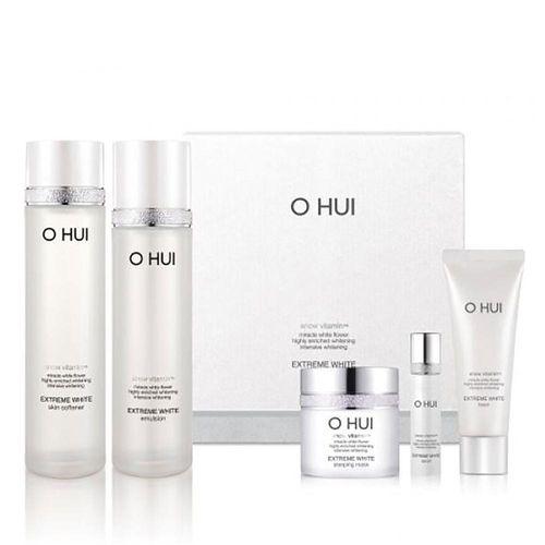 Bộ Sản Phẩm Dưỡng Trắng Da Ohui Extreme White Miniature Kit 5 Sản Phẩm