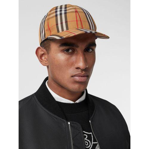 Mũ Burberry Vintage Check Baseball Cap Antique Yellow Size XL