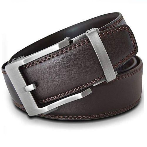 Thắt Lưng Nam Viniciobelt Holeless Leather Ratchet Click Trim To Perfect Fit Nâu Size XL