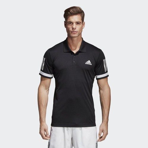 Áo Adidas Men Tennis 3-Stripes Club Polo Shirt Black CD7469 Size XL