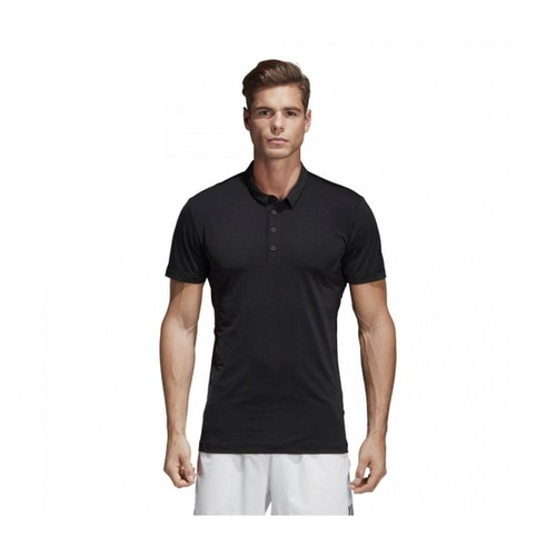 Áo Adidas Men Performance Tennis Heathered Polo Black CV9915 Size M