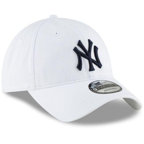 Mũ MLB Men's New York Yankees New Era White Core Classic Secondary 9TWENTY Adjustable Hat