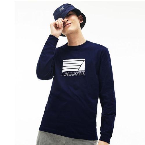 Áo Lacoste Men's Crew Neck Cotton T-shirt  Navy Blue