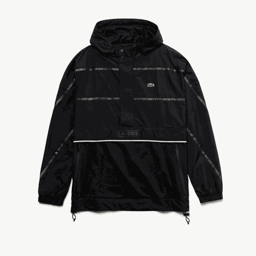 Áo Lacoste Men's Sport Water-Resistant Windbreaker Black