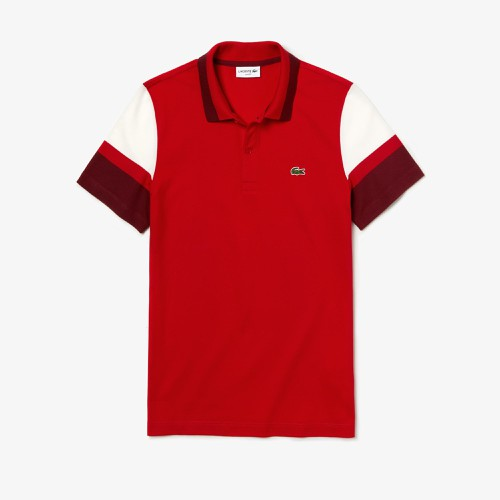Áo Lacoste Men's Slim Fit Stretch Pima Polo Shirt Red