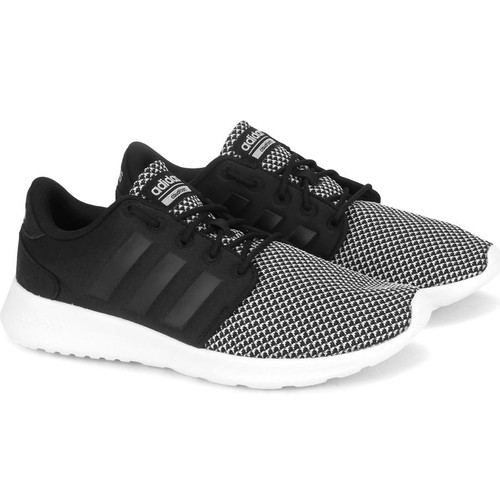 Giày Adidas Women Sport Inspired Cloudfoam QT Racer Shoes Black BB9848 Size 3-
